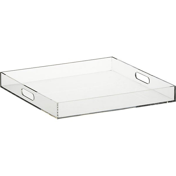 Acrylic Tray with integrated handles