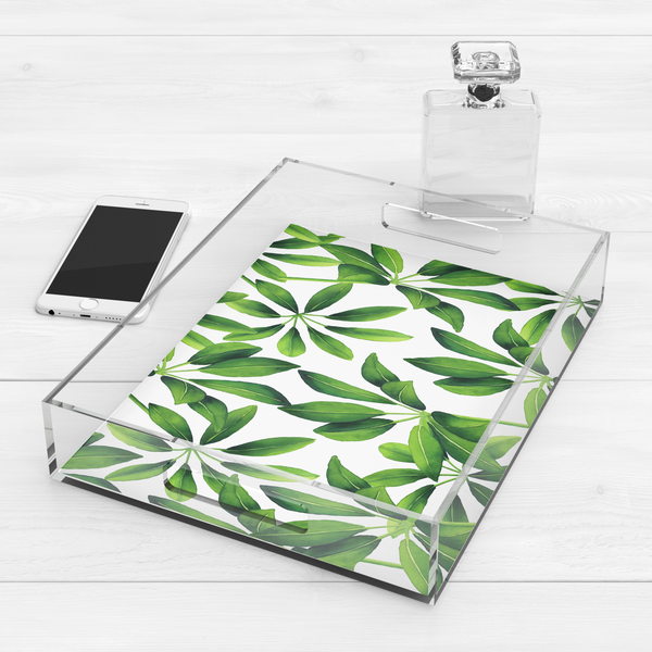 Tropical Leaf Cocktail Tray