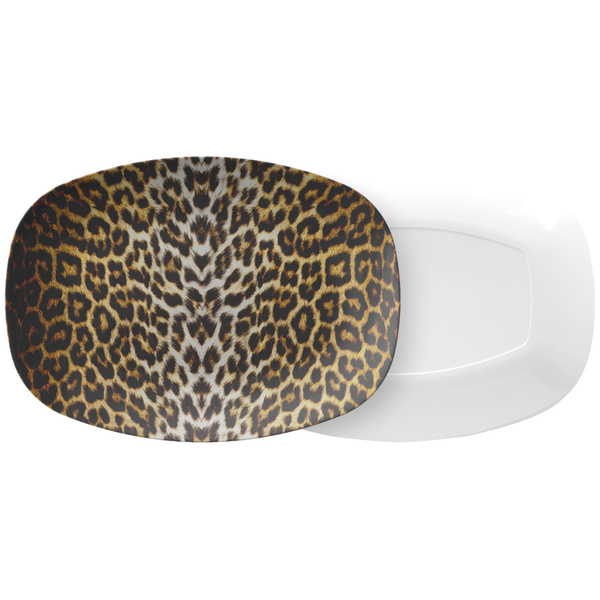 Leopard Animal Print Safe Plastic Outdoor Serving Platter
