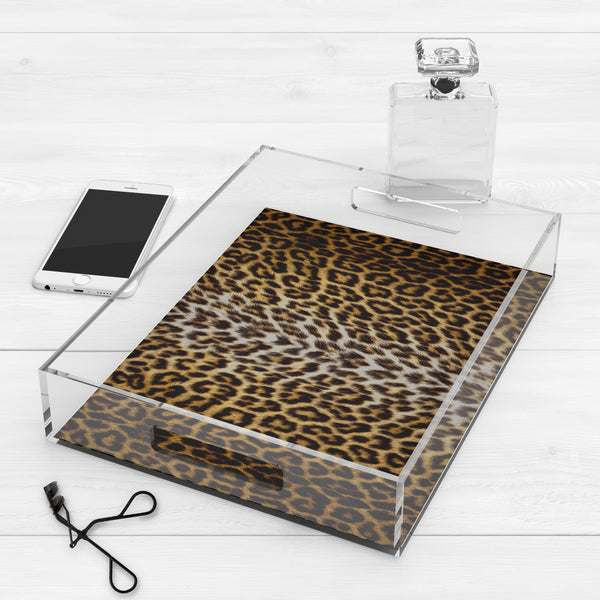 Leopard Print Coffee Table Tray