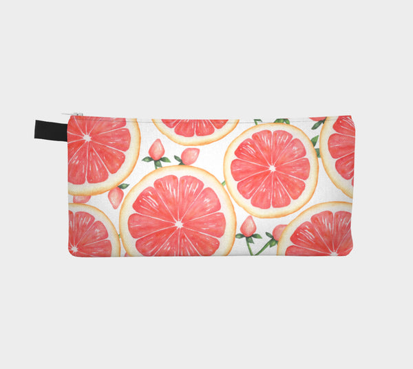 Pink Grapefruit Zipper Pouch