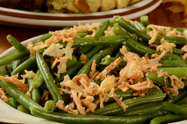 Green Bean Casserole with Fresh Fried Onions