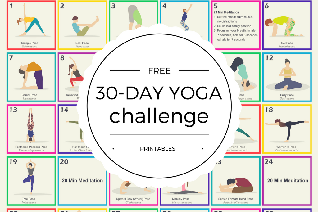 graphic about Yoga Printable referred to as Free of charge 30-Working day Yoga Concern Printables - Quan Jewellery