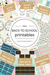 Free Back-To-School Printables Pinterest