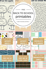 Free Back to School Printables Pinterest