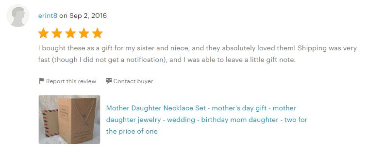 Review of Mother Daughter Matching Necklace