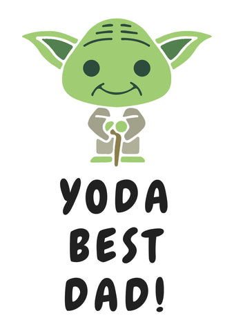 image relating to Yoda Printable referred to as No cost Printable Fathers Working day Playing cards - Quan Jewellery