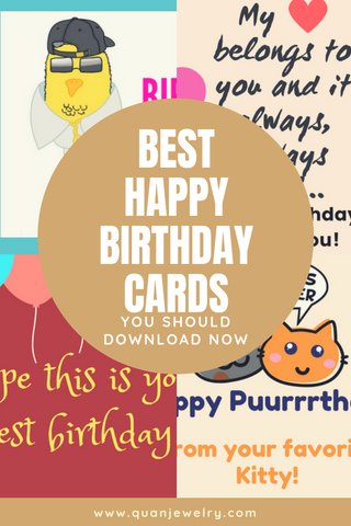 Quan Jewelry Happy Birthday Cards Printables Pinterest Graphic