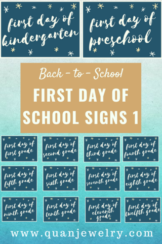 back to school first day of school signs 1