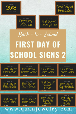 back to school first day of school signs 2