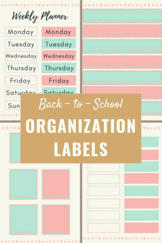 back to school organization labels