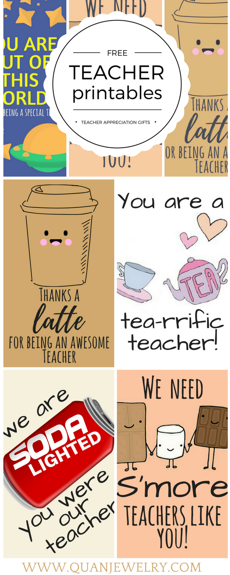 Free Printable Teacher Appreciation Thank You Cards Quan Jewelry