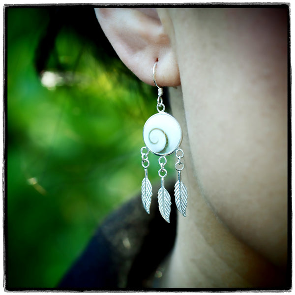 Aira Dream Catcher Earrings, 925 Sterling Silver - Quan Jewelry