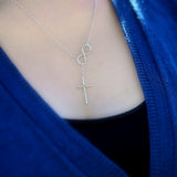 Christ Infinity Cross Necklace, Christian Jewelry, 925 Sterling Silver - Quan Jewelry