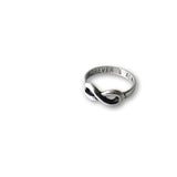 Akeisha Infinity Ring Forever & Always Promise Rings, 925 Sterling Silver - Quan Jewelry