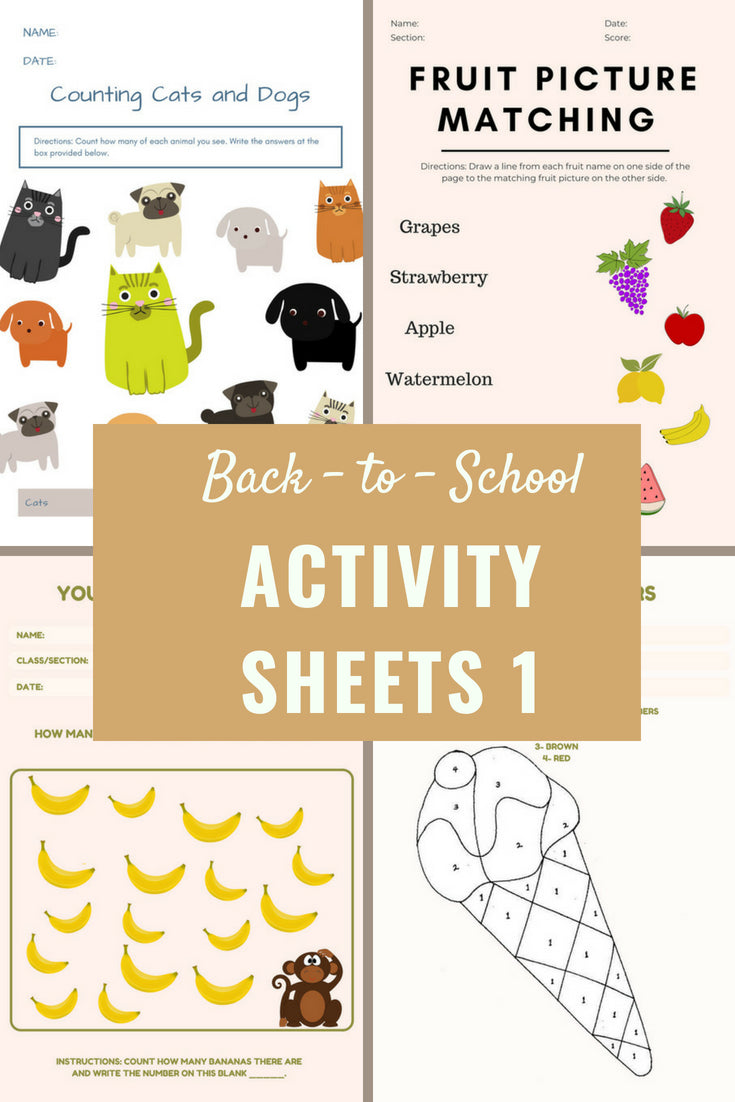 Free Back-To-School Printables - Activity Sheets