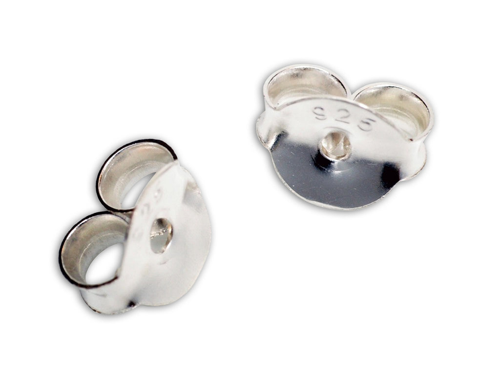 Earring Backs, 925 Sterling Silver - Quan Jewelry