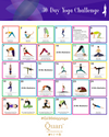 Free 30 Day Yoga Challenge Printables - Quan Jewelry