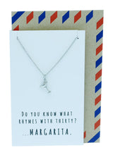 Mela Funny 30th Birthday Cards, Margarita Jewelry Charm Necklace, Silver / White - Quan Jewelry - 11