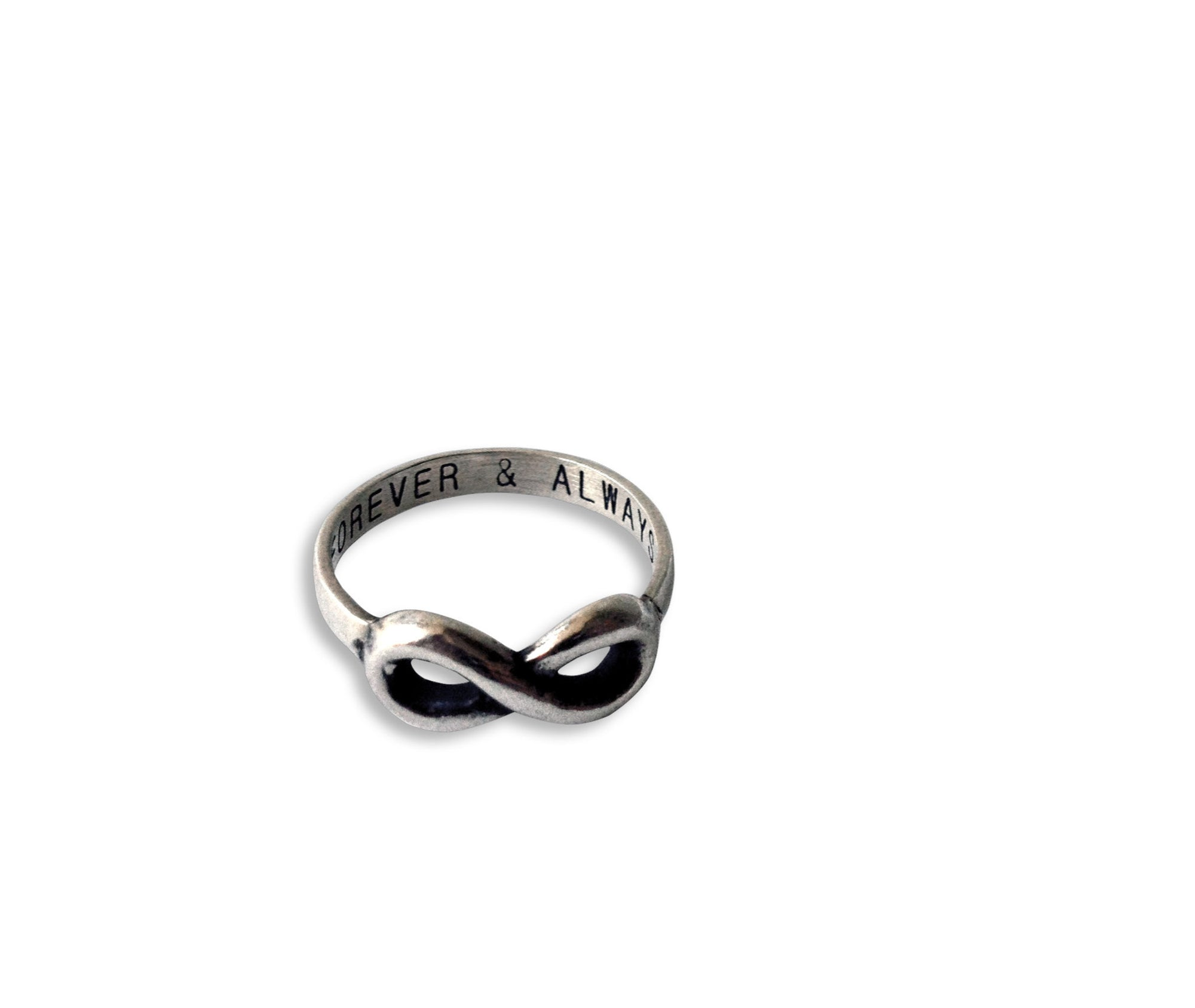 Akeisha Infinity Ring Forever & Always Promise Rings, 925