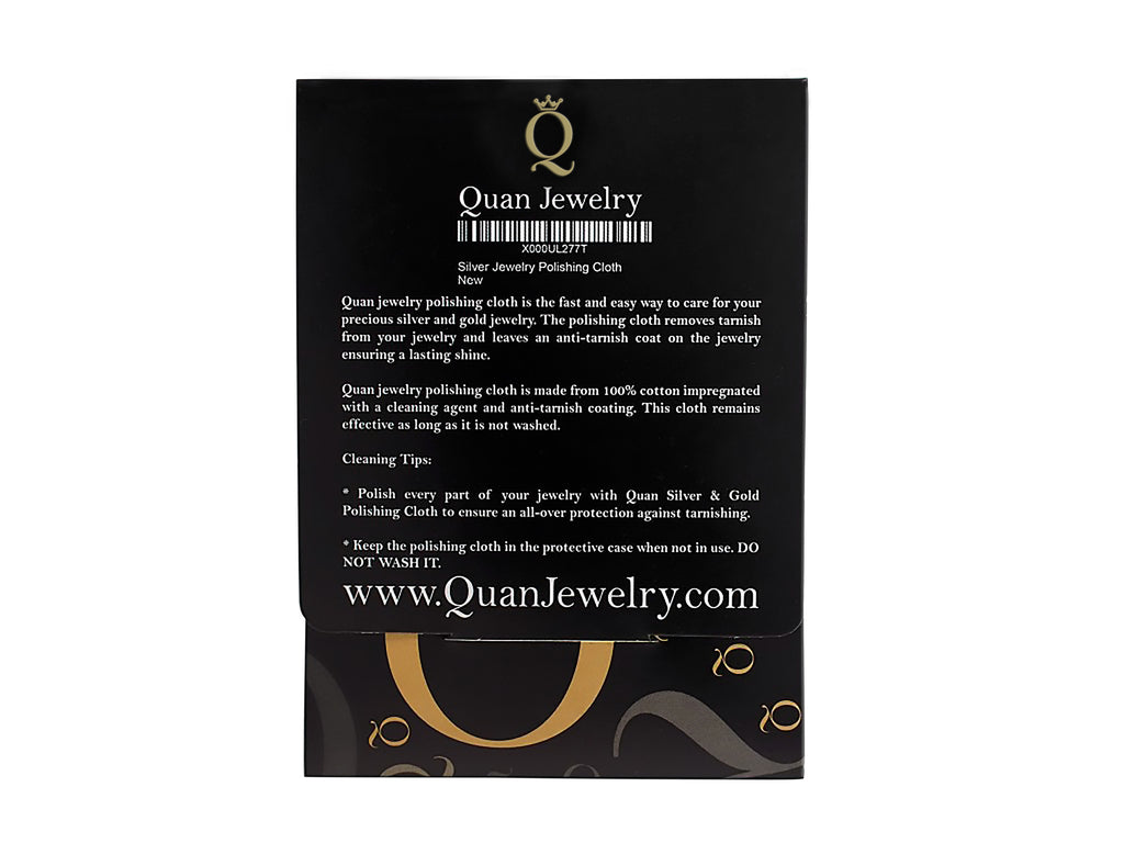 Quan Jewelry Silver Polishing Cloth - Quan Jewelry