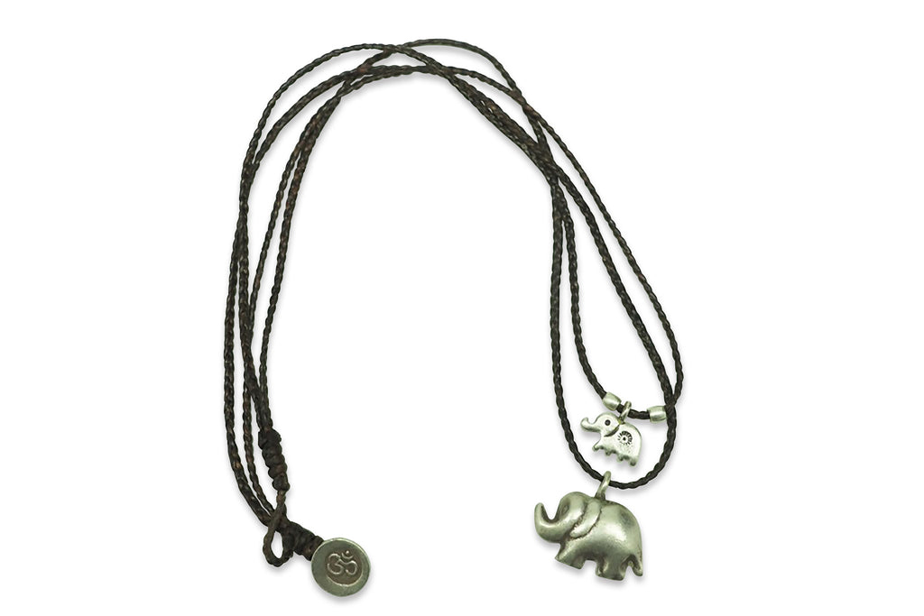 Sunee Elephant Necklace with 2 Elephant Pendants,  - Quan Jewelry - 5