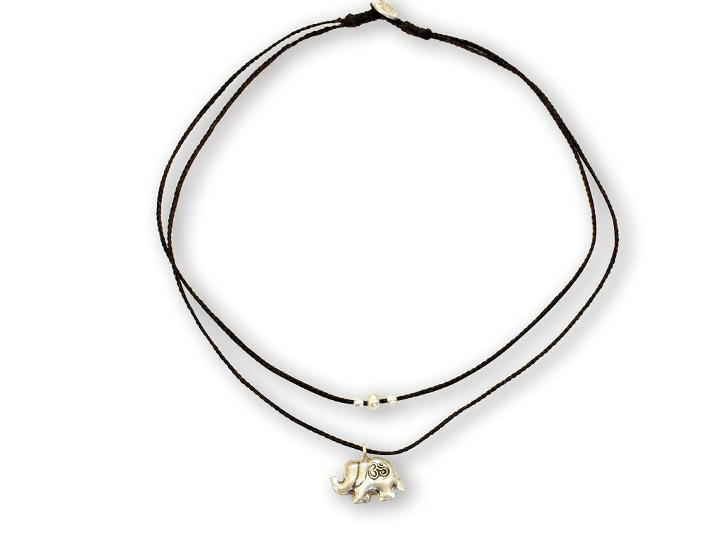 Kayin Lucky Elephant Om Necklace - Quan Jewelry
