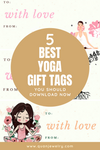 Free Yoga Gift Tags Printables - Quan Jewelry