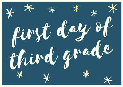 Free Back-to-School Printables First Day of School Signs Part 1