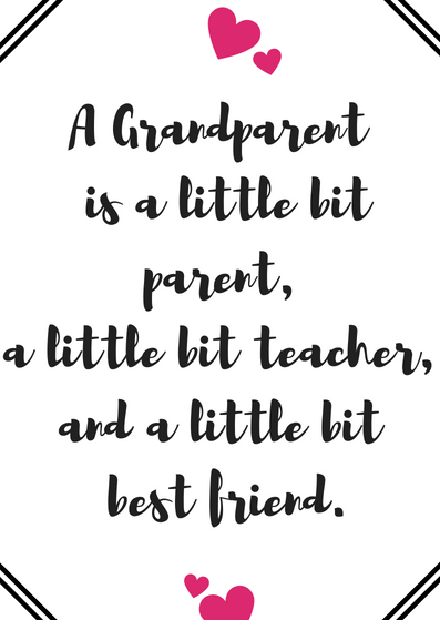 picture relating to Printable Grandparents Day Card called Absolutely free Grandparents Working day Quotation Card Printables - Quan Jewellery