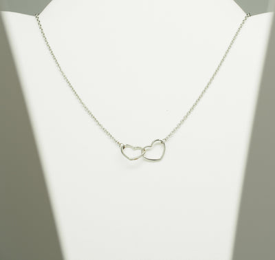 Double Heart Necklaces for Women