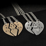 Lillian Best Friend Necklaces, 3-Piece Best B*****s Friendship Necklace - Quan Jewelry