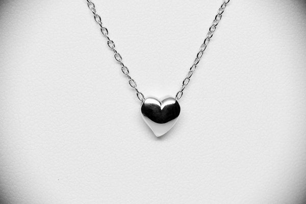 Amelina Heart Necklace, 925 Sterling Silver - Quan Jewelry