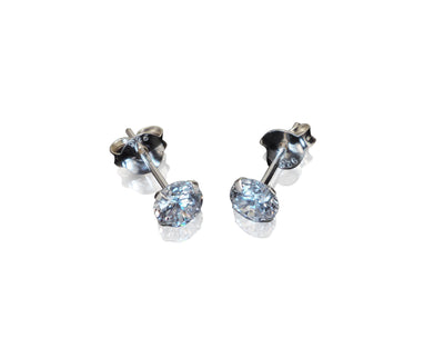 Clarisse Cubic Zirconia Stud Earrings for Women with Earring Jackets
