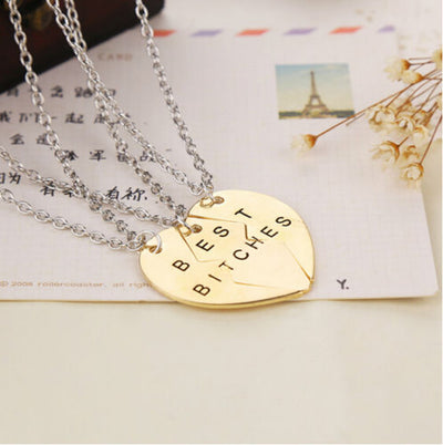 3-Piece Best B*****s Friendship Necklace