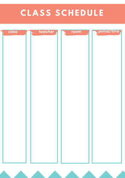 Free Back-To-School Printables Checklists and Planners