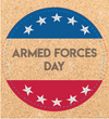 Free Armed Forces Bookmark and Coaster Printables