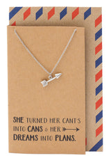 Cassidee Arrow Charm Necklace, Graduation Gifts - Quan Jewelry