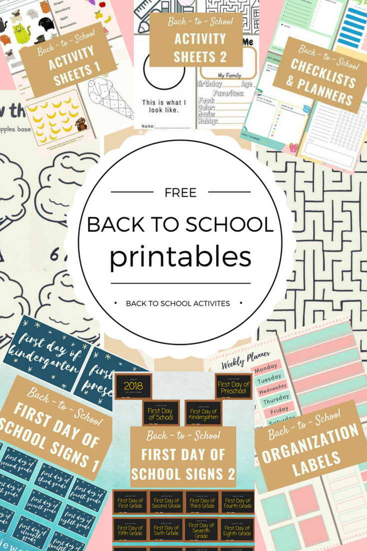 Free Back-to-School Printables Complete Edition