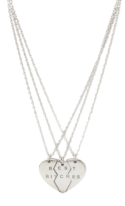 Lillian Best Friend Necklaces, 3-Piece Best B*****s