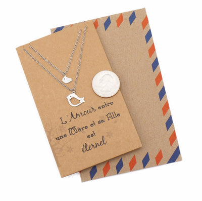 Gifts for Mom Bird Necklace