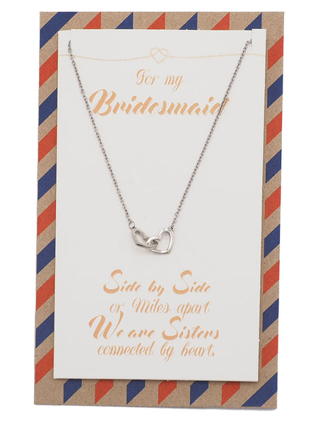Bridget Bridesmaid Gifts Interlocking Hearts Necklace, Bridesmaid Jewelry - Quan Jewelry