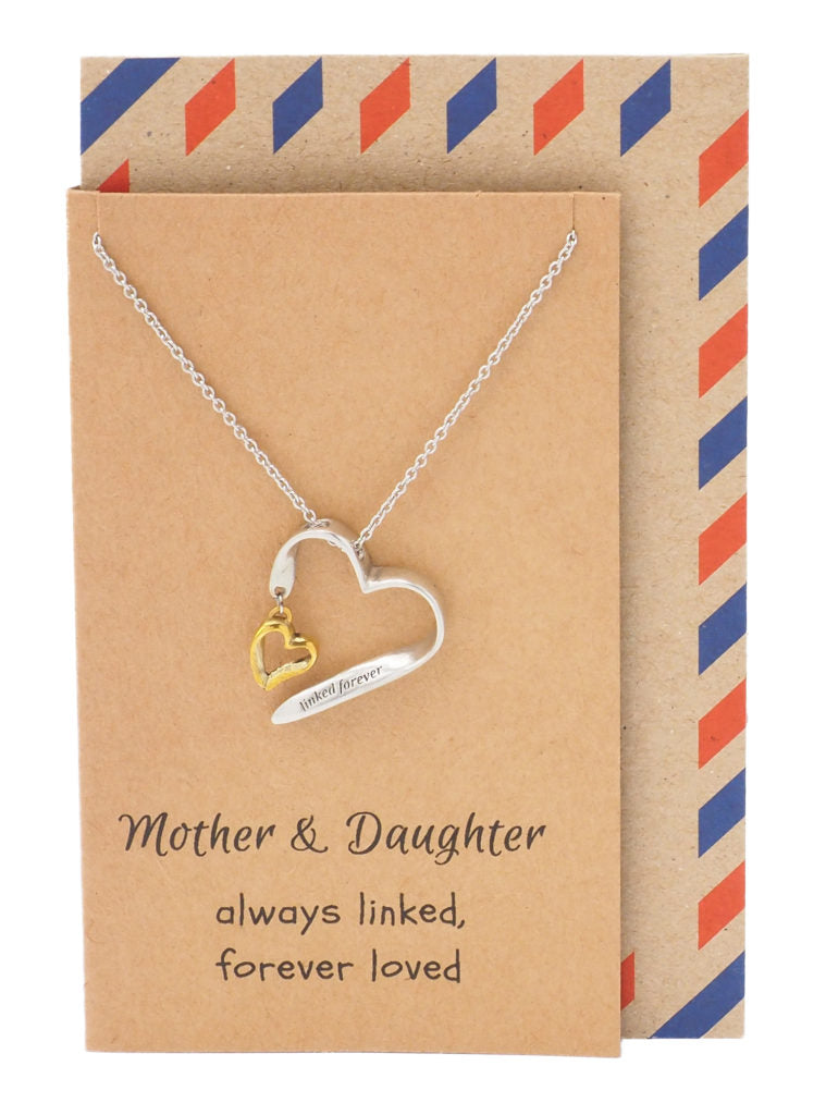 Mother Daughter Necklace, Gifts for Her (Two-tone) - Quan Jewelry 1
