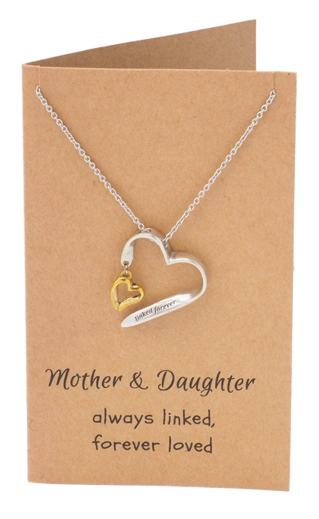 Mother Daughter Necklace, Gifts for Her (Two-tone) - Quan Jewelry 2
