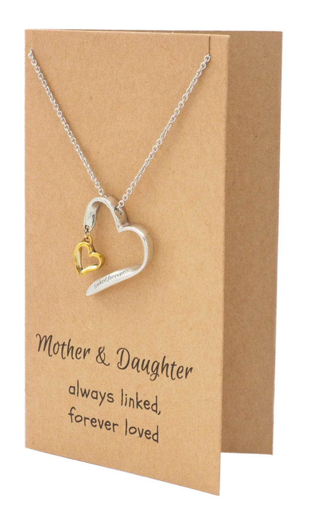 Mother Daughter Necklace, Gifts for Her (Two-tone) - Quan Jewelry 3