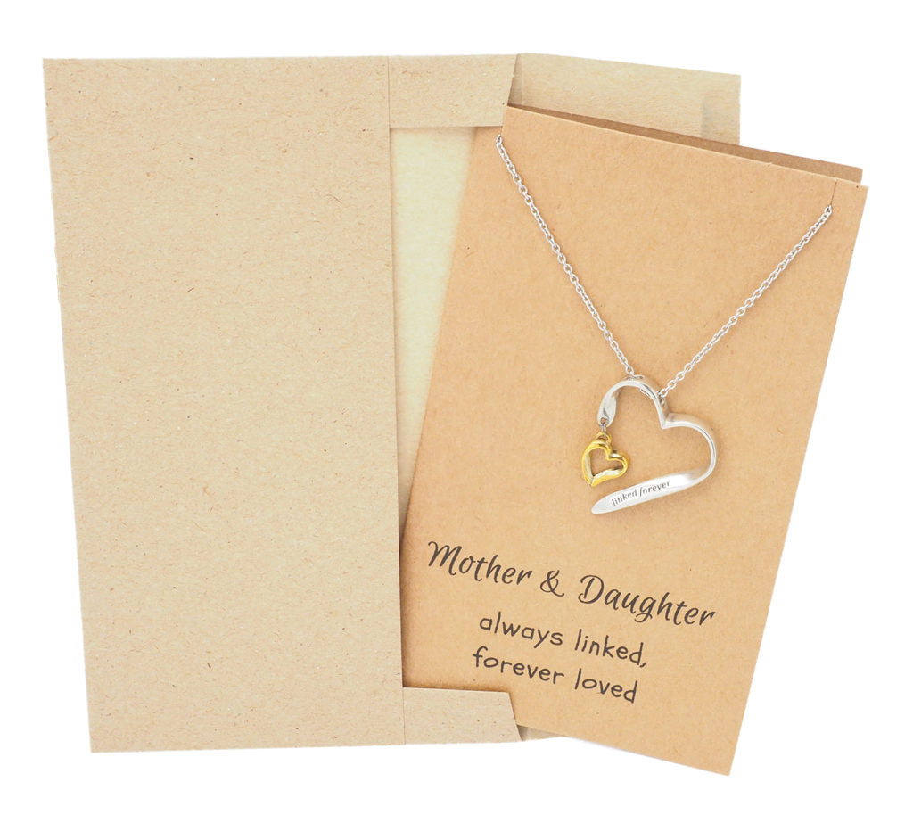 Mother Daughter Necklace, Gifts for Her (Two-tone) - Quan Jewelry 4