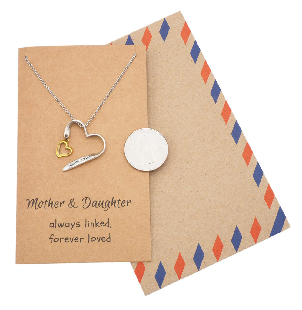 Mother Daughter Necklace, Gifts for Her (Two-tone) - Quan Jewelry 5