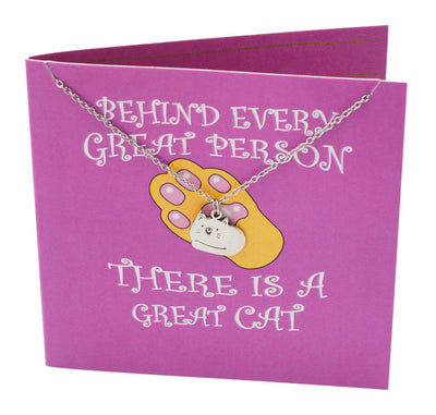 Cat Pendant Necklace, Funny Birthday Cards, Gifts for Cat Lovers - Quan Jewelry 3