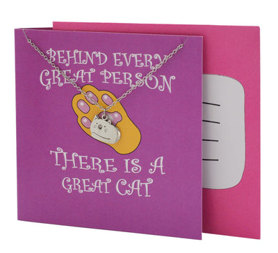 Cat Pendant Necklace, Funny Birthday Cards, Gifts for Cat Lovers - Quan Jewelry 5