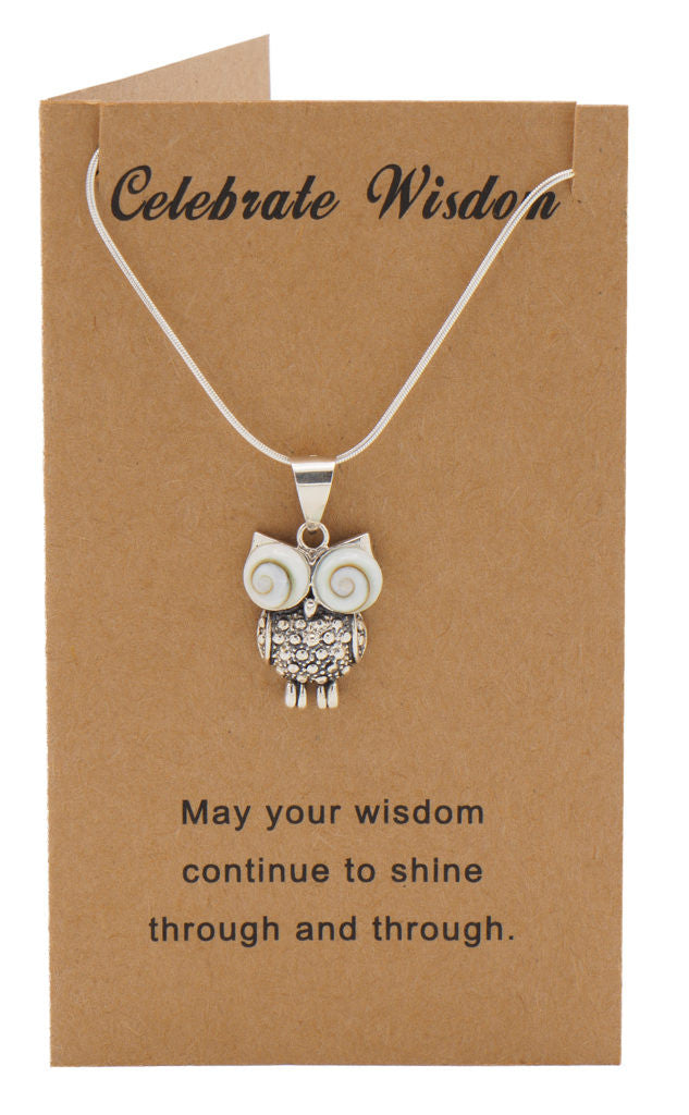Ruth Owl Necklace Graduation Gifts and Cards with Wisdom Quotes,  - Quan Jewelry - 4